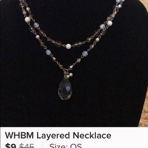 WHBM layered necklace